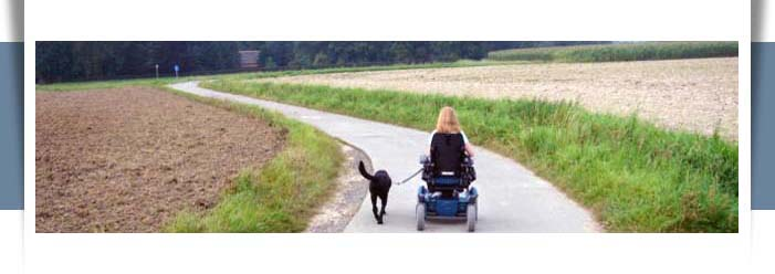 woman in wheelchair with serivce dog